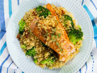 Salmon with Couscous and Broccoli -