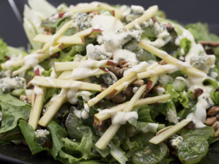 Apple, Blue Cheese and Walnut Salad -