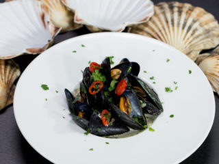 Mussels with Coconut Milk and Chilies -