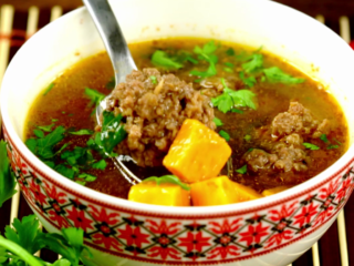 Meatball and Carrot Soup -