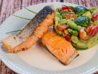 Pan-Fried Salmon and Avocado Salad -