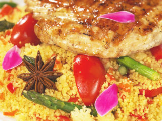 Grilled Turkey Breast with Veggie Couscous -