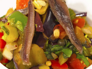 Warm Vegetable and Anchovy Salad -