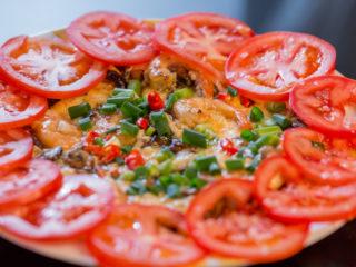 Shrimp and Mushroom Omelet -