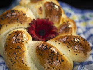 Black Sesame Braided Bread -