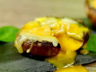 Yolk and Mozzarella Stuffed Mushrooms -