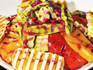 Grilled Halloumi Cheese and Veggie Warm Salad -