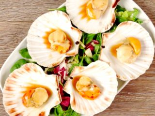 Grilled St. Jacques Scallops -