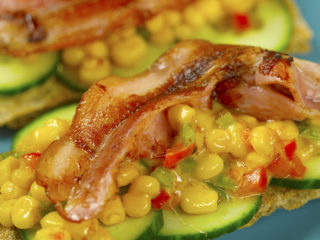 Bacon and Sweet Corn Snack -