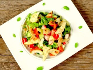 Tortilla and Veggie Summer Salad -
