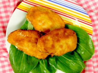 Cheese and Bacon Filled Pork Schnitzel -