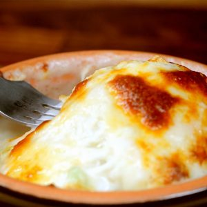 Potato and Spring Onion Gratin -