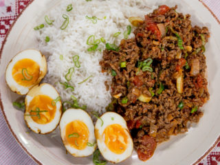 Ground Beef with Rice and Egg -