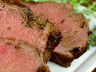 Beef Tenderloin with Fresh Herbs -