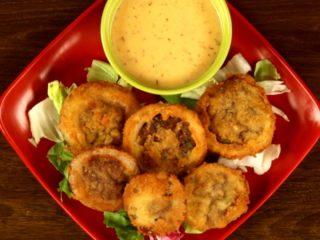 Minced Meat Onion Rings -
