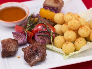 Lamb and Veggie Kebabs -