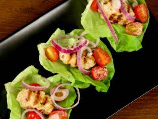 Chicken Meatballs and Lettuce Bites -