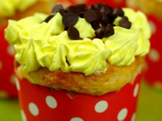 Whipped Cream and Chocolate Chip Muffins -