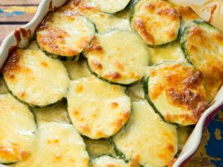 Potato, Mushroom and Zucchini Bake -