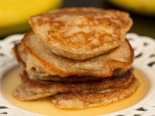 Banana Pancakes with Agave Syrup -