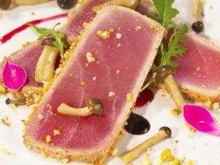 Tuna Steak with Shimeji Mushrooms -