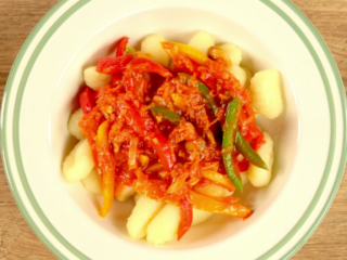 Bell Pepper and Mushroom Gnocchi -