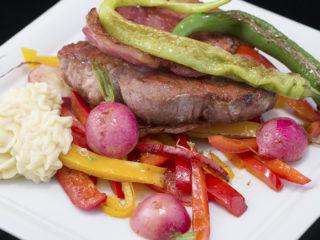 One Pan Pork Neck, Ham and Veggies -