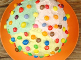 Skittles and M&M Whipped Cream Panettone -