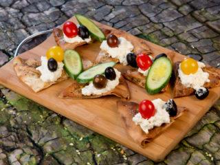 Greek Feta Spread with Tortilla Chips -
