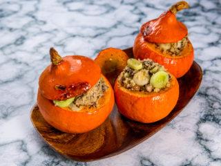Quinoa-Filled Pumpkins -