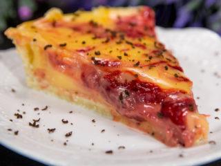Strawberry Lemon Curd Tart -