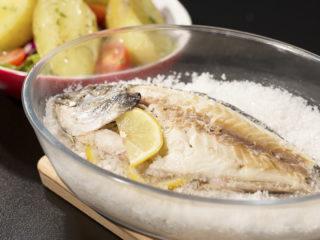 Salt-Crusted Sea Bream with Potato Side -