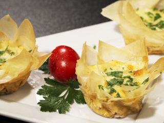 Phyllo Egg Muffins with Dried Tomatoes -
