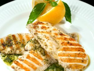 Grilled Chicken with Pesto Sauce -