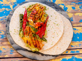 Grilled Chicken and Avocado Mash Tortilla -
