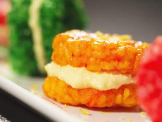 Sushi Rice and Mango Macarons -