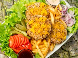 Pretzel-Crusted Burger Patties -