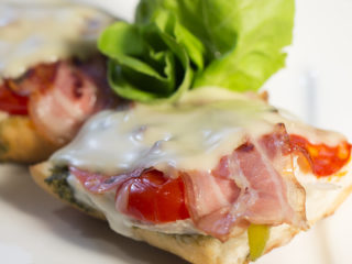 Grilled Turkey, Bacon and Pesto Sandwiches -