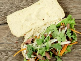 Beef and Vegetable Ciabatta Sandwich -