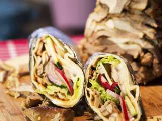 Spicy Pork Tortilla Wrap -