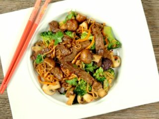 Ginger Beef with Noodles -