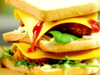 Fried Chicken Tower Sandwich -