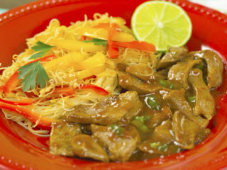 Spicy Beef with Rice Vermicelli -