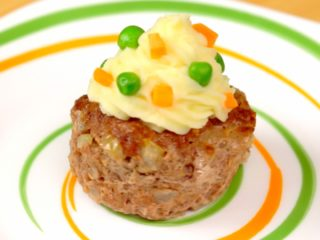 Potato Topped Meatloaf Muffins -