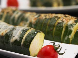 Mozzarella-Filled Zucchini with Spicy Glaze -