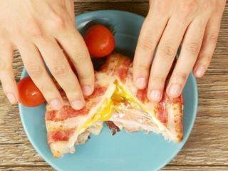 Bacon Wrapped Fried Sandwich -