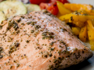Herb Roasted Salmon with Veggies -