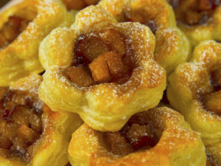 Puff Pastry Peach Tartlets -