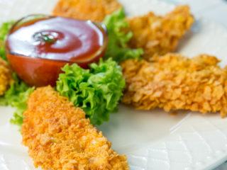 Cornflake-Crusted Chicken Strips -