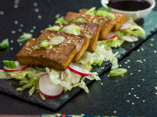 Pan-Fried Marinated Tofu -